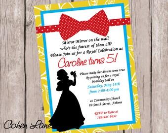 Snow White Invitation. Princess Party Invitation.  Princess invite. Snow White Invite. Birthday Invitation. Snow White Birthday Party Invite