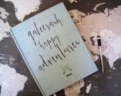Travel Journal, Gatecrash adventures, Persoanlized Journal, 5X7 and 8X10 Inches, Gift for Traveler, Destination wedding book