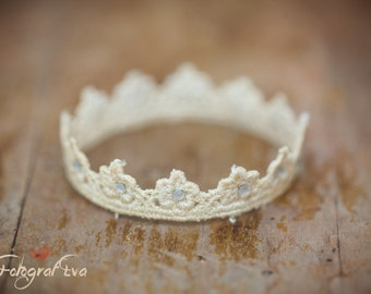 Ivory crown for newborn photography