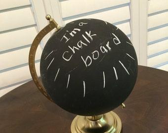 """9"""" chalkboard globe, unique decor"""
