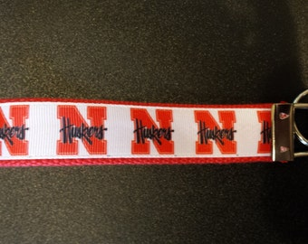 Nebraska Cornhuskers Key Fob, Wristlet, Key Chain