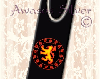 Metal bookmark with high quality printed original images. High quality metal bookmark. Scottish Lion Rampant