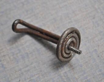 Antique miniature metal hook, hanger.