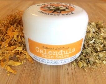Calendula Skin Salve - Organic Healing Balm (Heals, Soothes, Moisturizes, Treats Dry, Chapped, Cracked Skin, Rashes, Wounds & Burns)
