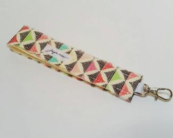 Multi-colored Geometric Wristlet Key FOB / Key Chain
