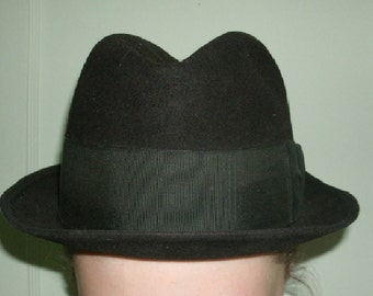 Vintage Porkpie Hat Wool