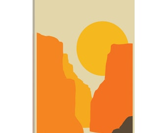 iCanvas Big Bend Gallery Wrapped Canvas Art Print by Jazzberry Blue