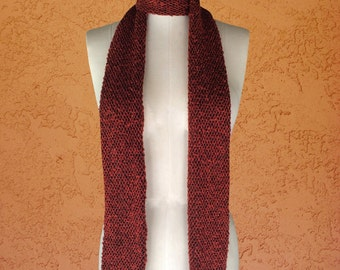 Skinny Scarf / Long Scarf / Neck Warmer / Winter Accessories / Boho Accessories / Winter Scarf / Red Soft Sweater Scarf