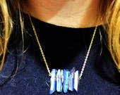 Electroplated Crystal quartz Necklace