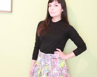 Maeve Paris Map Skirt