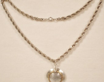 Vintage Sterling Silver & 10kt gold necklace