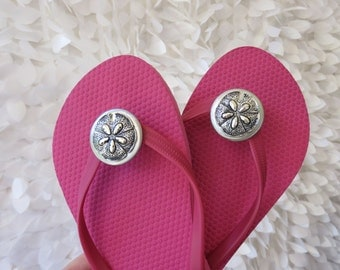 Sand Dollar Flip Flop Wrap Clips, Flexible Removable Versatile Shoe Clips, Sandal Clips, Scarf Accessory,