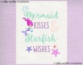 Mermaid Kisses (Pink)   Wall Art   Nursery Decor