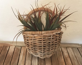Primitive Hand Woven Basket Wall Hanging