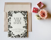 Classic Ave Save the Date + Lined Envelope