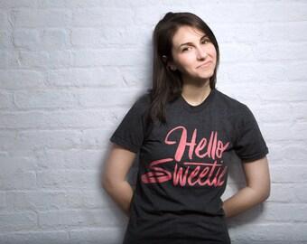 Hello, Sweetie | Black Doctor Who Unisex Shirt