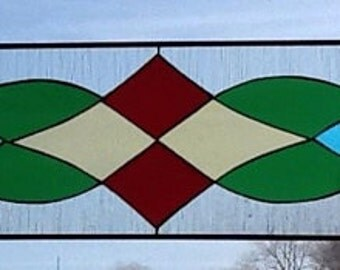Stained Glass Victorian Transom Window colorful cathedral glass