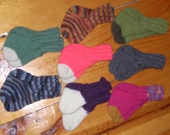 "Wool Baby Socks 3"" Foot - Your Choice"