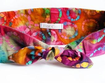 Multicolor Tie Dye Headband - Tie Dye Turban - Hair Accessories - Headbands - Hair Scarfs
