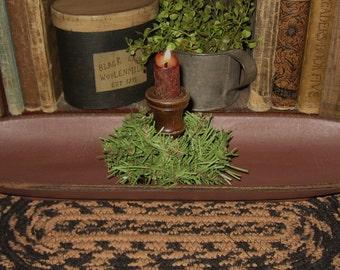 Wooden Display BOWL-Antique BURGUNDY-Primitive Country Kitchen Decor