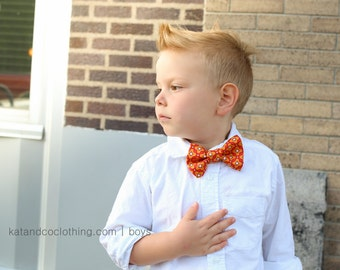 Boys bow tie made for newborn to age 12.