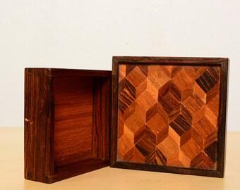 Small Don Shoemaker Box Mid Century Modern, Mexican Modernism AMBIANIC, Eames, Nakashima  Era