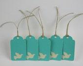 5 - Holiday / Christmas Tags - Dove