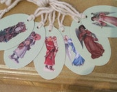 X-Mas Gift Tags-(6) Assorted Santa's & Angels