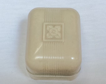 Art Deco Celluloid Ring Box Velvet Wedding jewelry Display plastic Old Vintage