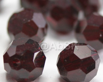 Promotion Item - 100 pcs Swarovski Elements 5000 5mm Crystal Round Beads - GARNET (While Stocks Last)