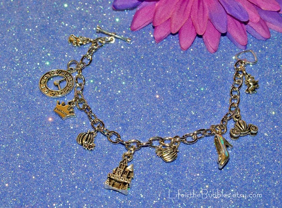 Cinderella Dreams Do Come True Magical Charm Bracelet, Disney Cinderella Inspired, Cinderella Cosplay, Disney Bound, by Life is the Bubbles
