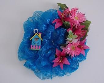 Bluebird Birdhouse Wreath