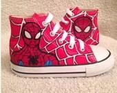 Spider-Man toddler/kids Converse