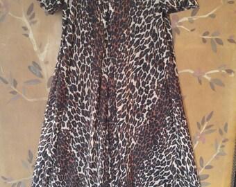 70s leopard maxi dress