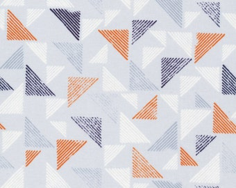 Cloud9 Organic Fabrics - Landscape - Blockprint   Orange / Fat Quarter