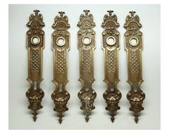 Set of ornate French figural back plates