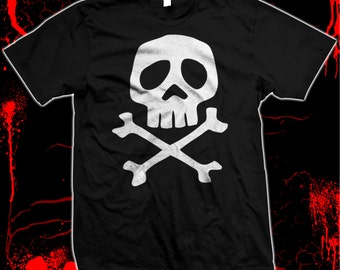 Captain Harlock Skull & Crossbones Pre-shrunk, hand screened 100% cotton t-shirt