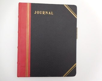 Vintage Journal Record Keeping Book