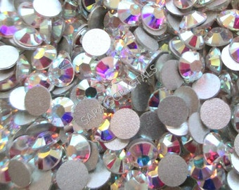 50 pcs Swarovski Flatbacks Crystal Clear AB 20ss (4.6 - 4.8mm) SS20 2028 Xilion Rose