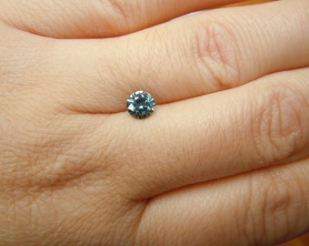 Genuine Montana Sapphire .79 ct round brilliant loose gemstone for engagement, jewelry, special occasions