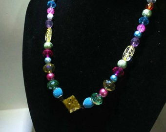 Bright and bold beaded necklace
