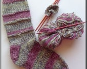 Knitted Sock pattern and gift wraps -PDF pattern
