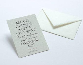 Letterpress Typography Postcard - Parisian.