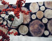 Log Print Table Runner Tree Rings