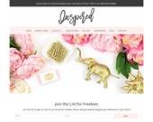 Feminine WordPress Theme - Premade WordPress Theme - Inspired