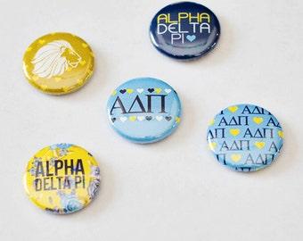 """Alpha Delta Pi 1"""" Buttons"""