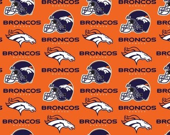 NFL Denver Broncos Cotton V3 Fabric by the yard