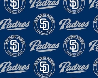 MLB San Diego Padres 100%Cotton Fabric by the yard