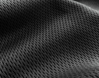 Dimple Mesh Sports Fabric by the yard- Black