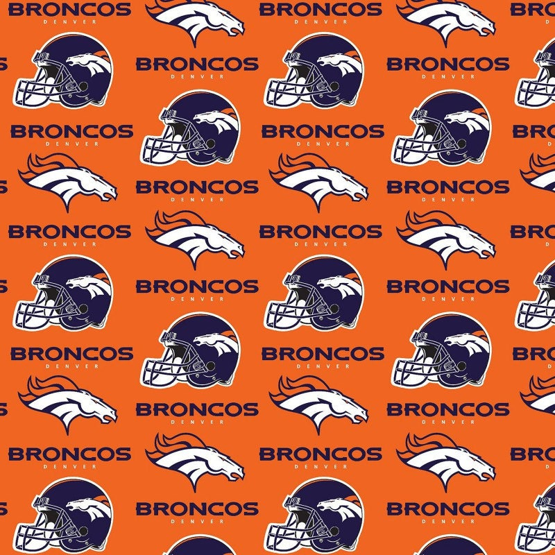 NFL Denver Broncos Cotton V3 Fabric By The Yard From